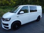 VOLKSWAGEN TRANSPORTER T6 TDI 150 6 SPEED STARTLINE BMT WITH AIR CON - RARE VAN - EURO SIX IN CANDY WHITE - 1442 - 1