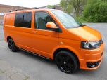 VOLKSWAGEN TRANSPORTER T32 T5 T6 TDI 140 6 SPEED WINDOW VAN WITH TAILGATE IN ORANGE - 1320 - 2
