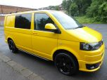 VOLKSWAGEN TRANSPORTER T32 T5 T6 TDI 6 SEAT KOMBI STARTLINE 6 SPEED 140 SWB WITH TAILGATE IN YELLOW - 1371 - 2