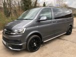 VOLKSWAGEN TRANSPORTER T6 TDI 7 SPEED DSG AUTO 8/9 SEAT SHUTTLE SE BMT LWB IN INDIUM GREY - EURO SIX WITH REVERSE CAMERA - 1596 - 1