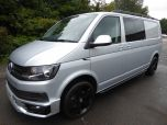 VOLKSWAGEN TRANSPORTER T32 T6 TDI 150 6 SPEED 5 SEAT KOMBI HIGHLINE BMT LWB - EURO SIX WITH TAILGATE IN SILVER - 1468 - 1