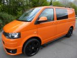 VOLKSWAGEN TRANSPORTER T32 T5 T6 TDI 140 6 SPEED WINDOW VAN WITH TAILGATE IN ORANGE - 1320 - 1