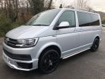 VOLKSWAGEN TRANSPORTER T6 TDI 204 DSG AUTO SWB 8/9 SEAT SHUTTLE SE BMT EURO SIX IN SILVER WITH LEATHER SEATS - 1513 - 1