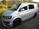 VOLKSWAGEN TRANSPORTER T6 TDI 7 SPEED DSG AUTO 5 SEAT KOMBI HIGHLINE BMT EURO SIX IN SILVER WITH TAILGATE - 1497 - 1