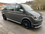VOLKSWAGEN TRANSPORTER T6 TDI 9 SEAT SHUTTLE SE LWB IN INDIUM GREY - EURO SIX - 1980 - 2