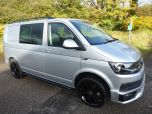 VOLKSWAGEN TRANSPORTER T6 TDI 7 SPEED DSG AUTO 5 SEAT KOMBI HIGHLINE BMT EURO SIX IN SILVER WITH TAILGATE - 1497 - 2