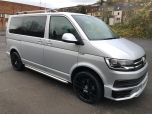 VOLKSWAGEN TRANSPORTER T6 TDI 204 DSG AUTO SWB 8/9 SEAT SHUTTLE SE BMT EURO SIX IN SILVER WITH LEATHER SEATS - 1513 - 2