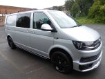 VOLKSWAGEN TRANSPORTER T32 T6 TDI 150 6 SPEED 5 SEAT KOMBI HIGHLINE BMT LWB - EURO SIX WITH TAILGATE IN SILVER - 1468 - 2